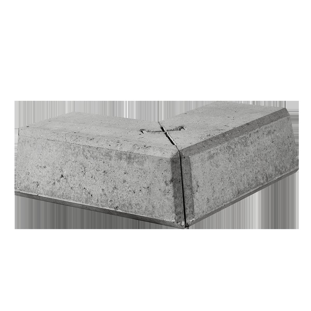 Danblokke 24/51x24/51x27x17 cm Grå Hjørner Type 3