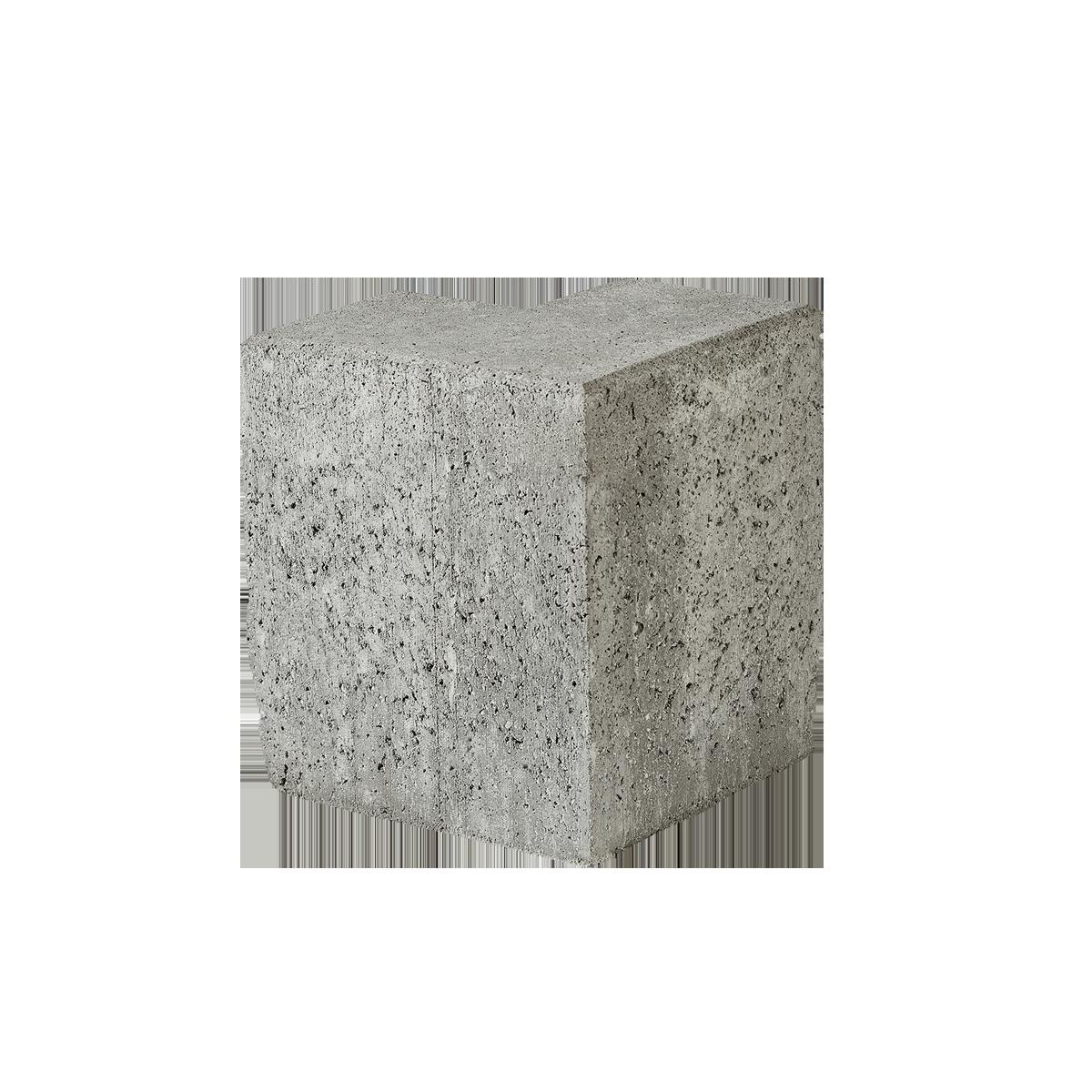 Albertslundkantsten 15x30x25 cm Grå hjørner