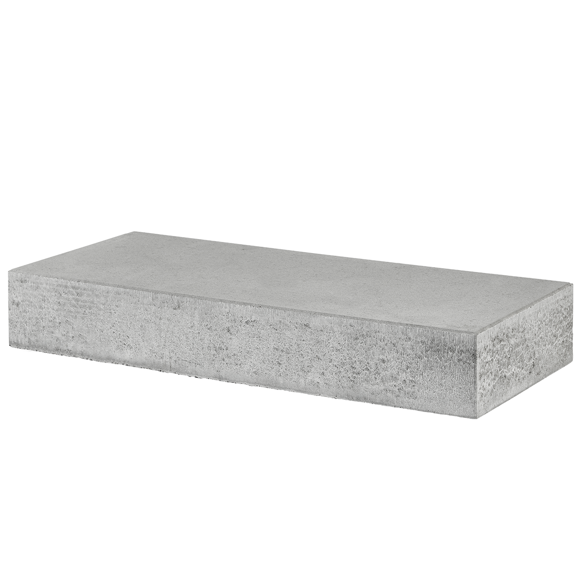 Trappetrin 100x40x15 cm Grå Lige kant