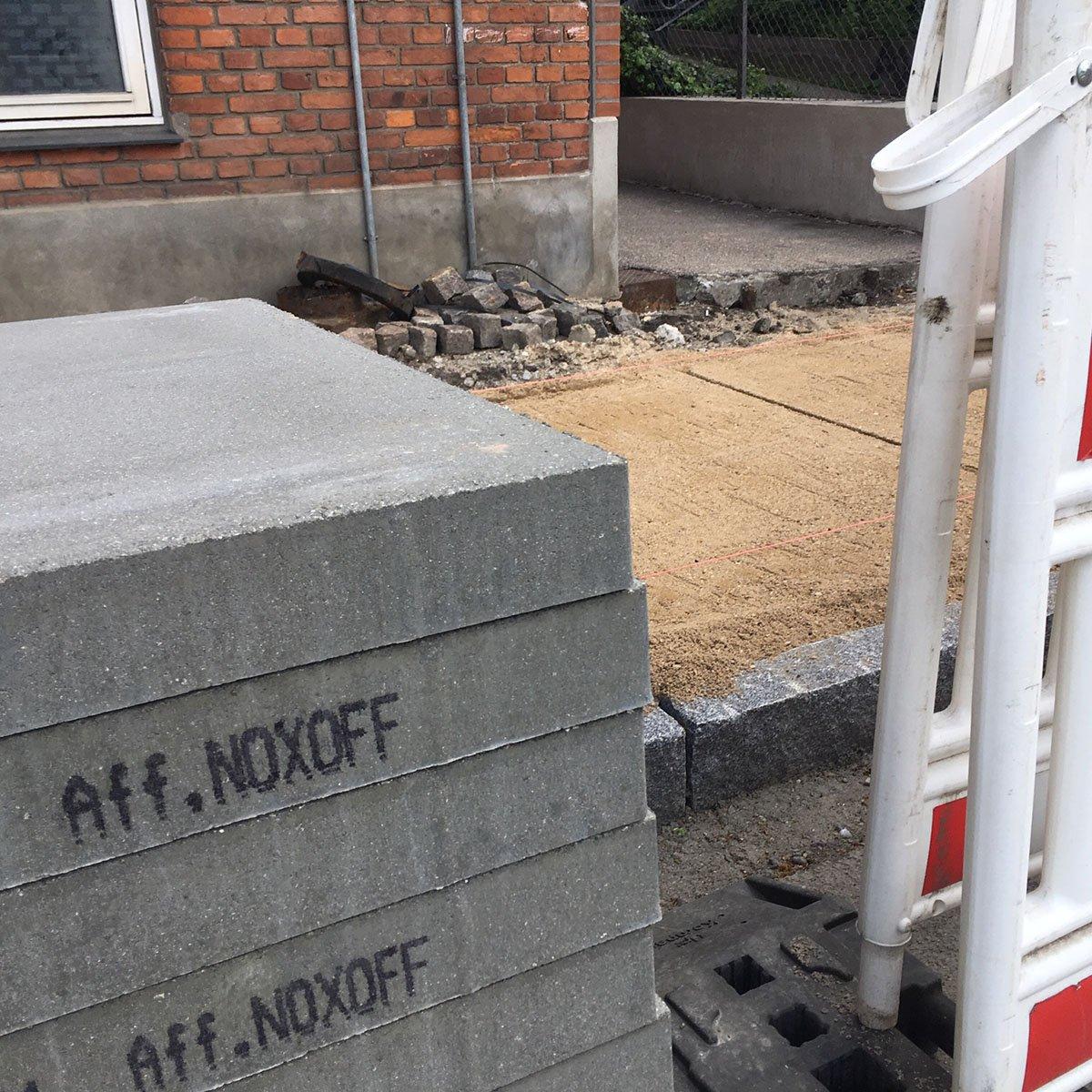 Fortovsfliser med NOxOFF
