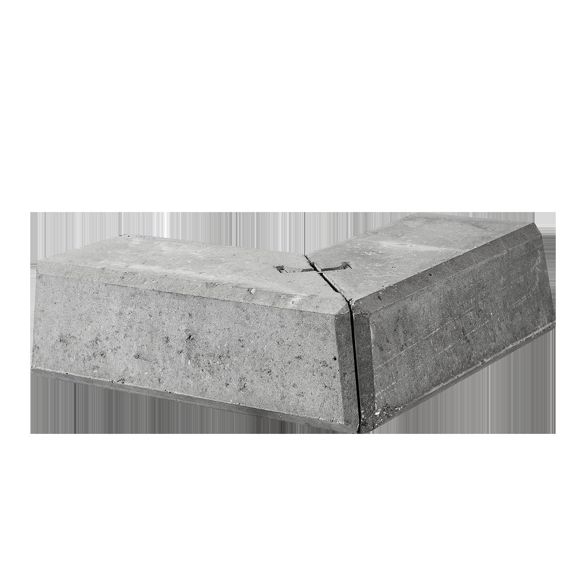 Danblokke 30/57x30/57x27x17 cm Grå Hjørner Type 1