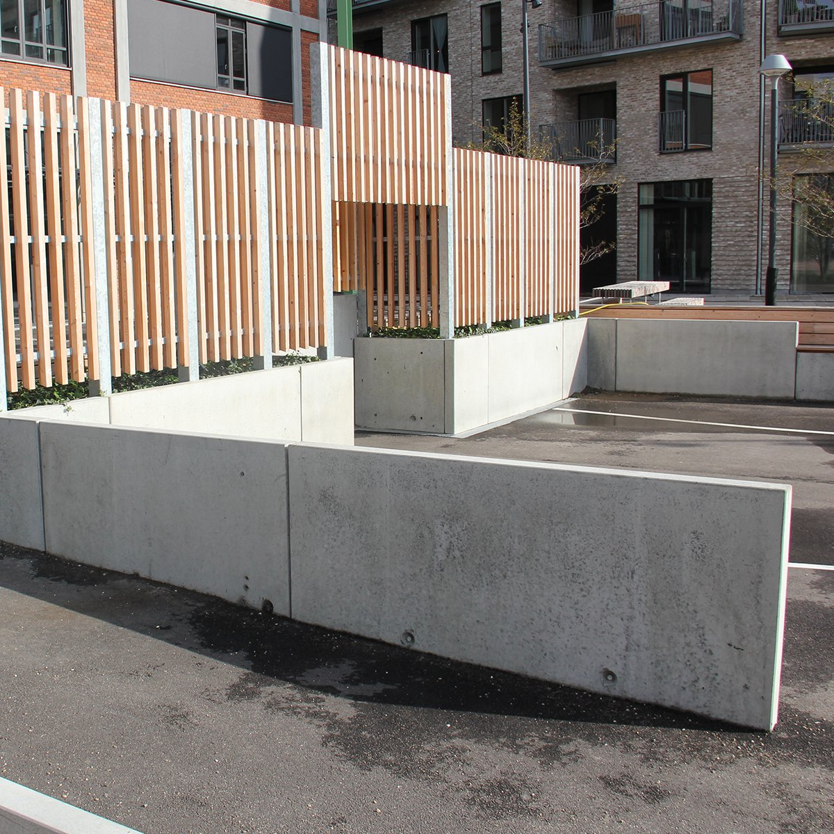 ParkLine Støttemur 40 - 30x200x10 cm Grå