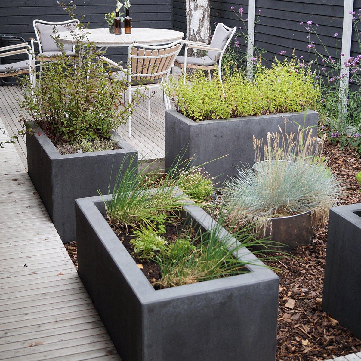 Plantekummer Nordic-serien sort/antracit