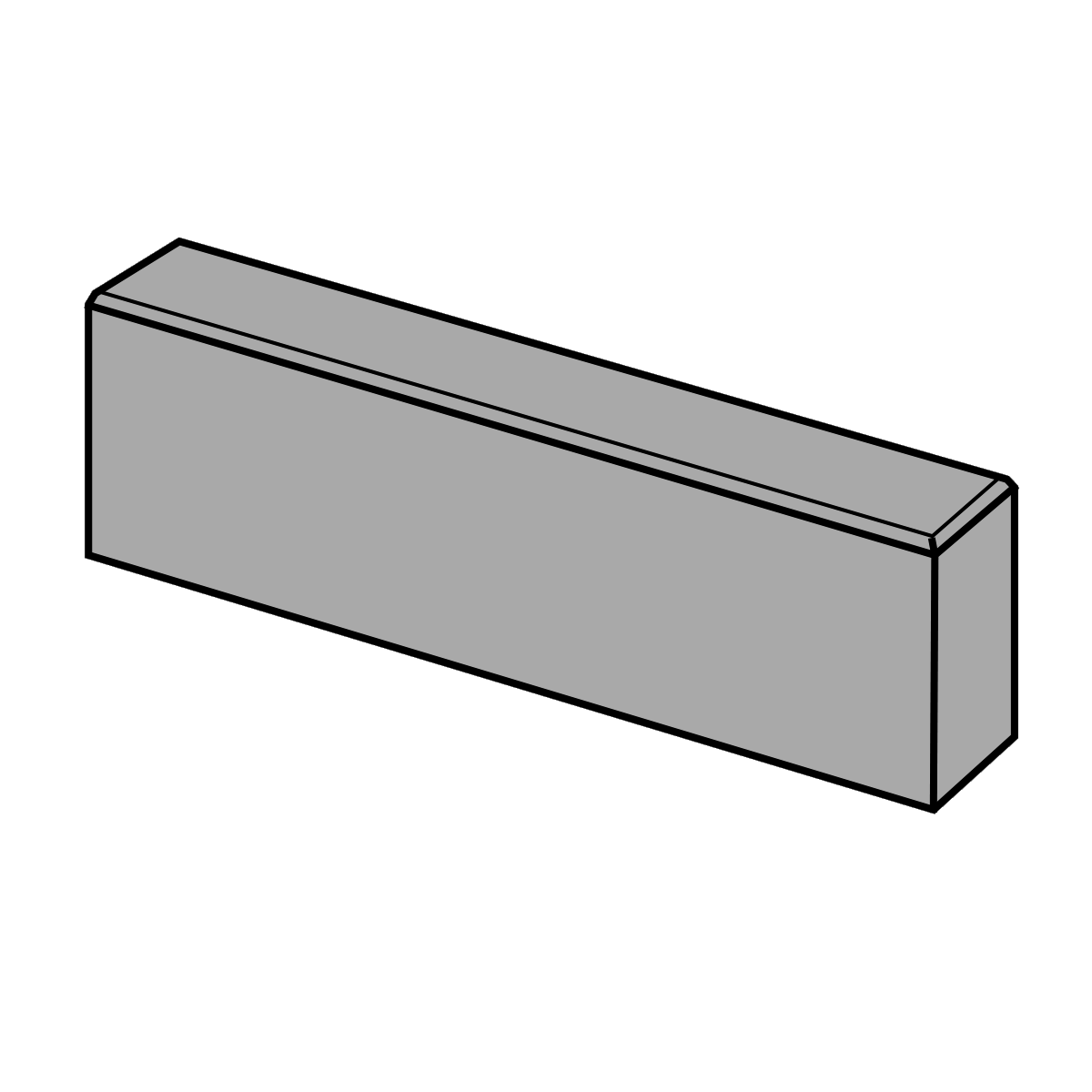 Kantningssten 10x18x60 cm Sort/Antracit