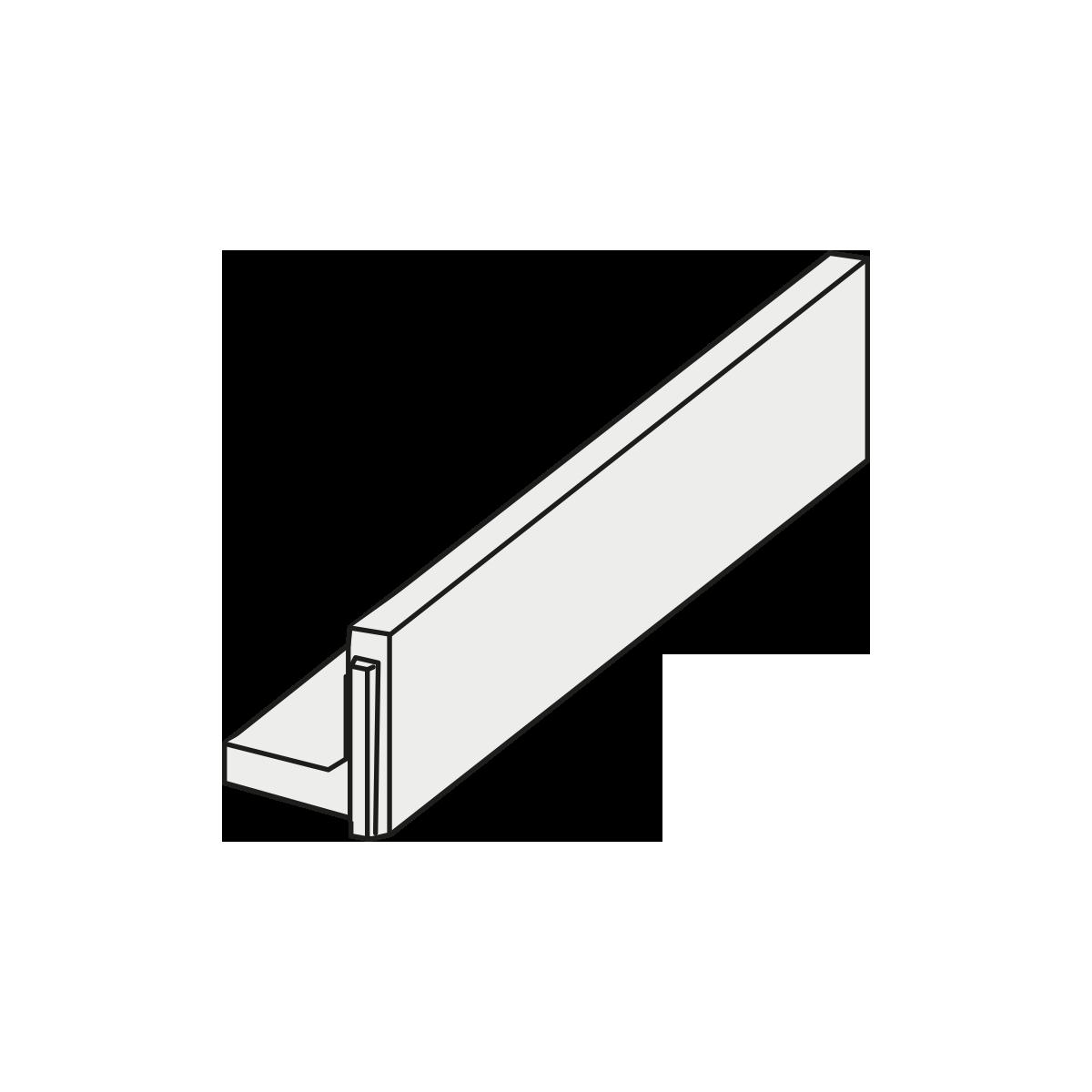 ParkLine Støttemur 80 - 45x120x10 cm Grå