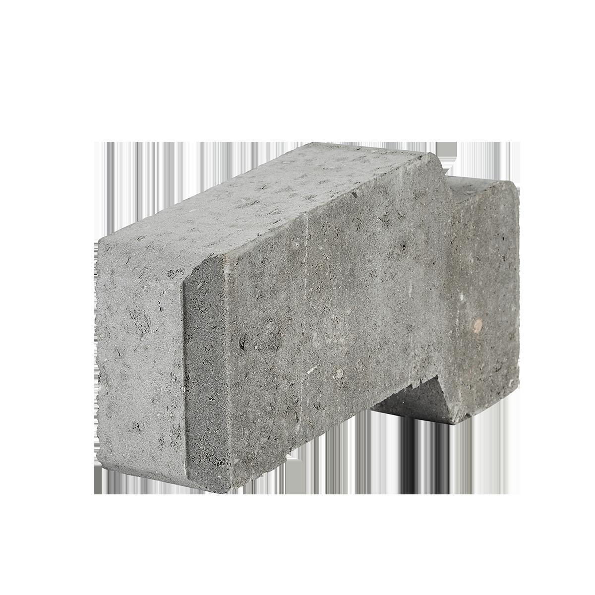 Danblokke 12,5x34x17 cm Grå 1/2-blok (massiv)