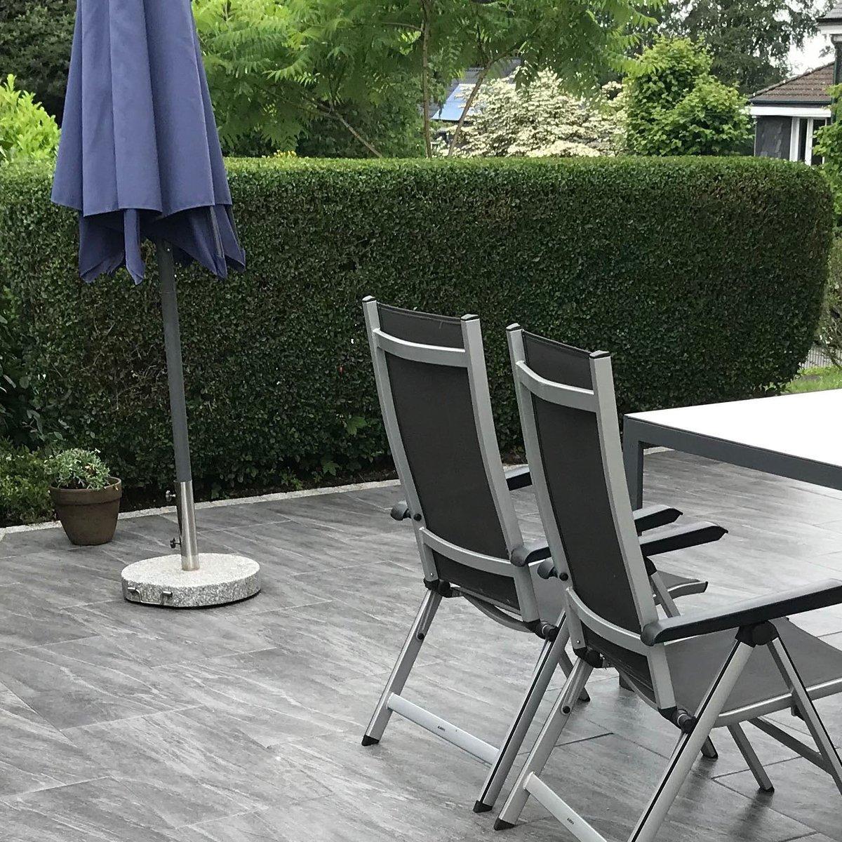 PremiumLine 40,5x80,5x4 cm Klippegrå-Struktur