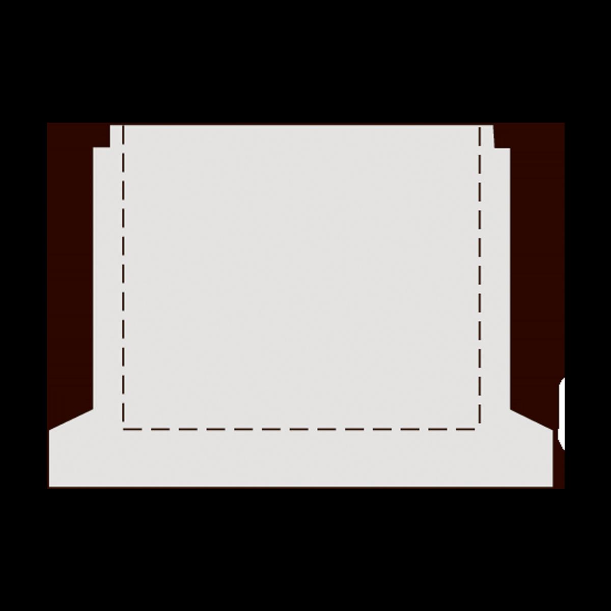 125 cm brøndbunde uden tilslutninger, gls