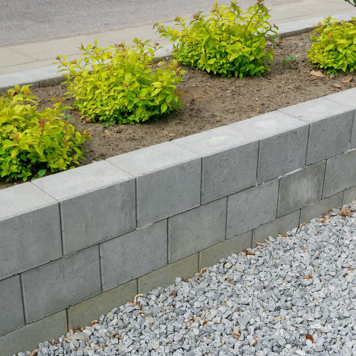 Bondesten 14x21x14 cm Grå Kantblokke