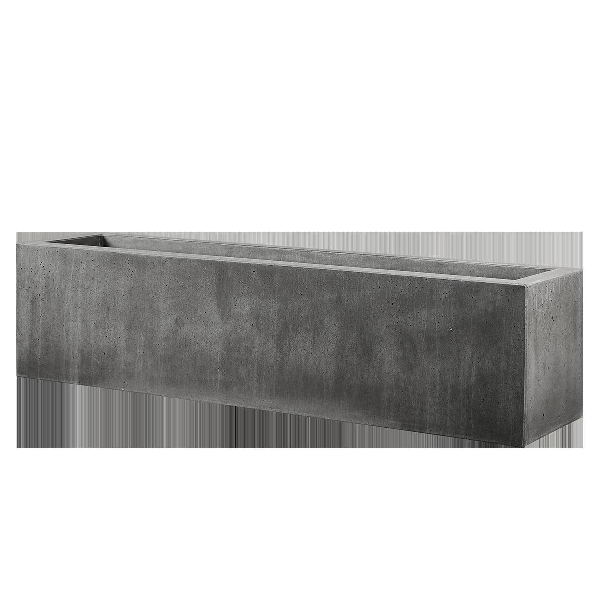 Plantekummer Nordicserien 200x50x50 cm Sort/Antracit m/bund