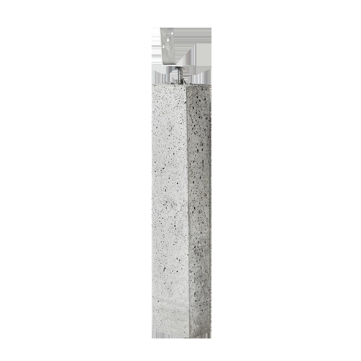 Stolpebæringer 12x15x80 cm Vinkeljern