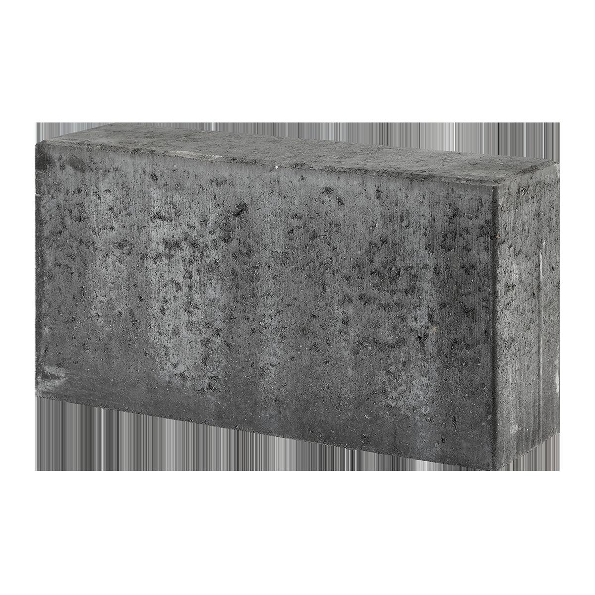 Albertslundkantsten 15x30x60 cm Sort/Antracit vandret overs.