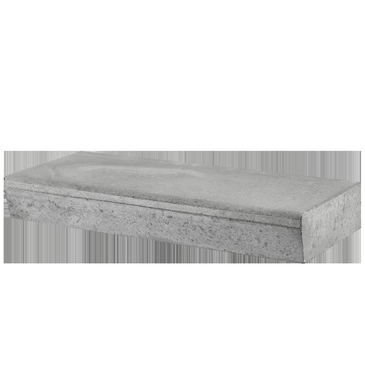 Trappetrin 100x40x14 cm Grå Skrå kant