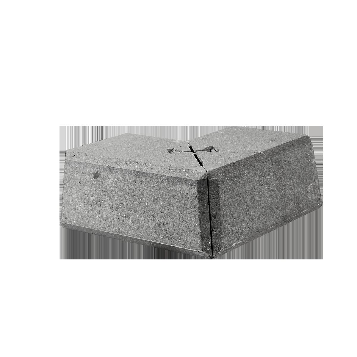 Danblokke 15/42x15/42x27x17 cm Grå Hjørner Type 2