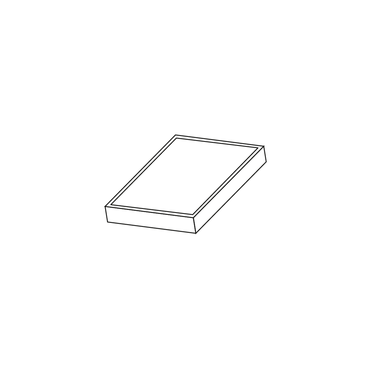 Fliser Modul 40 sort/antracit