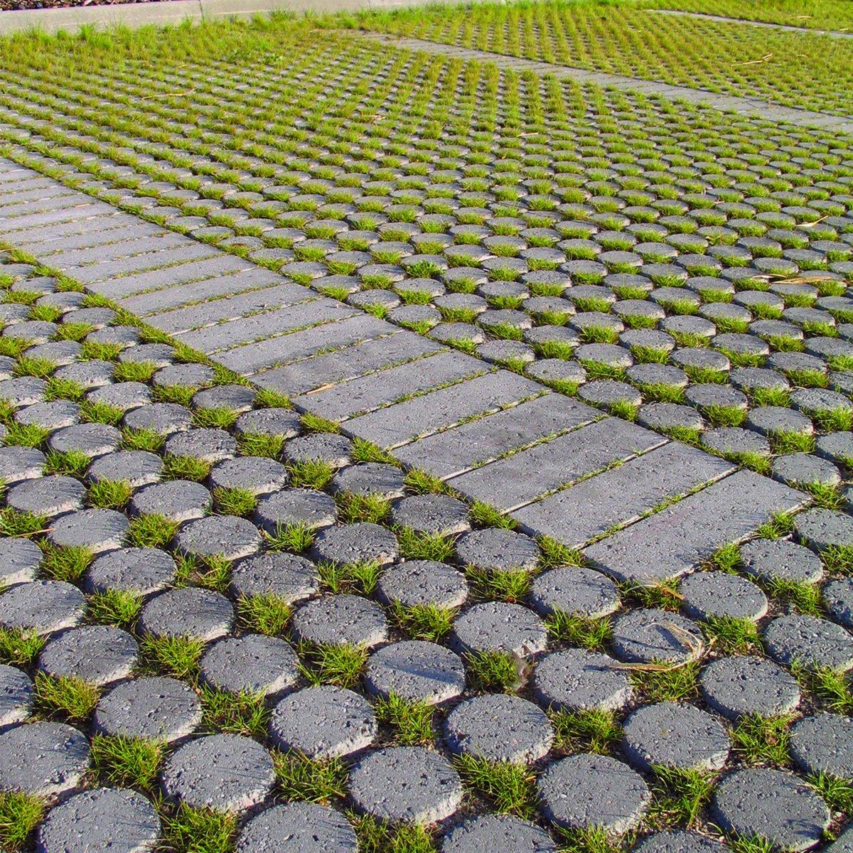 Modulserien græsarmering grå