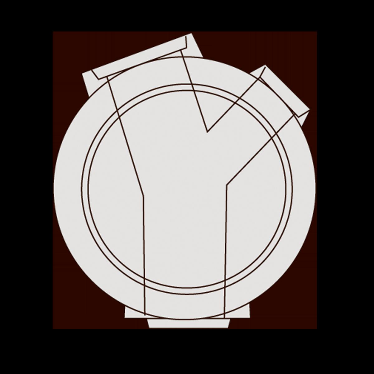 125 cm Drejebrønd, gls
